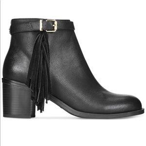 Sam Edelman Leather Fringe Ankle Boot